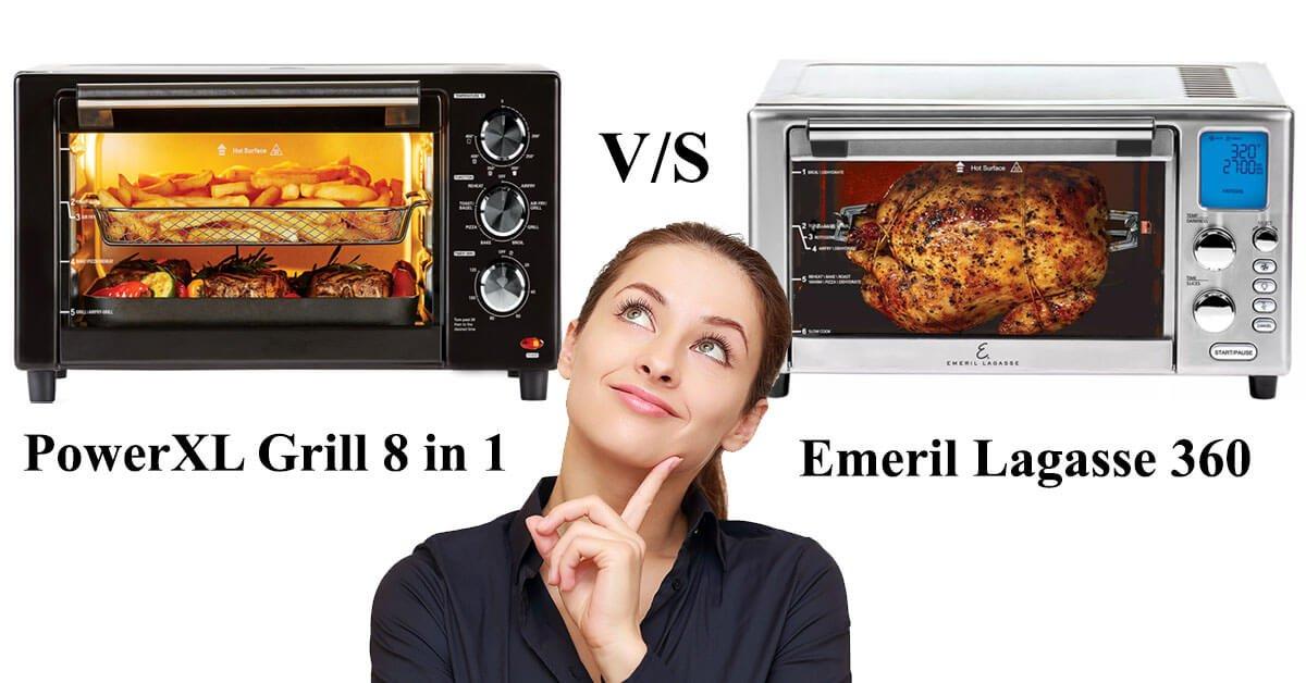 PowerXL Air Fryer Grill vs Emeril Lagasse 360